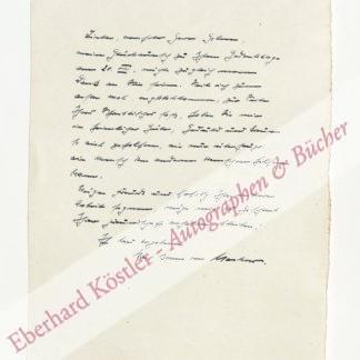 Mechow, Karl Benno von, Schriftsteller (1897-1960).