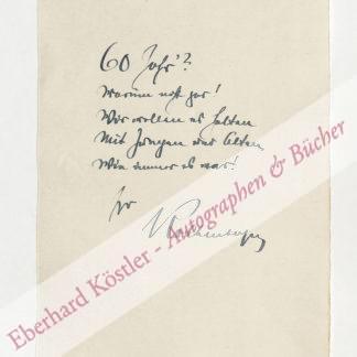 Kolbenheyer, Erwin Guido, Schriftsteller (1878-1962).