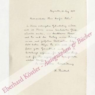 Raithel, Hans (Pseud. Peter Michel), Schriftsteller (1864-1939).