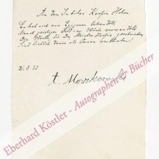 Moszkowski, Alexander, Schriftsteller und Musikkritiker (1851-1934).
