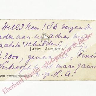 Ansingh, Lizzy (Maria Elisabeth Georgina), Malerin (1875-1959).