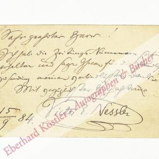 Neßler, Victor, Komponist und Dirigent (1841-1890).