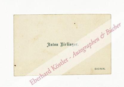 Bierlinger, Anton, Germanist (1834-1891).