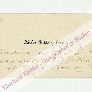 Guido y Spano, Carlos, Schriftsteller (1829-1916).