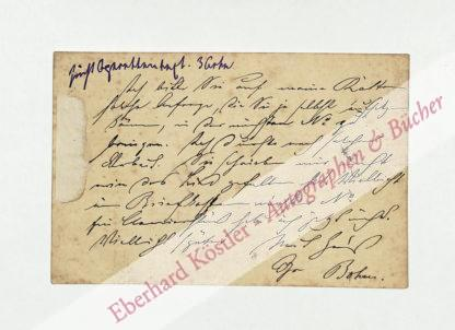 Bohm, Karl, Pianist (1844-1920).