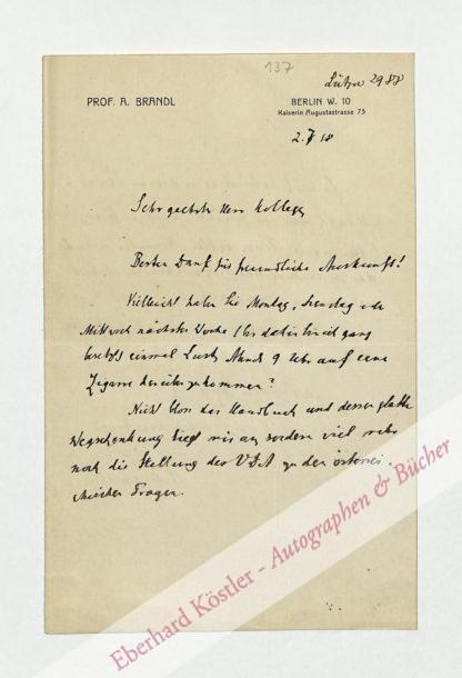 Brandl, Alois, Anglist (1855-1940).