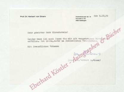 Einem, Herbert von, Kunsthistoriker (1905-1983).