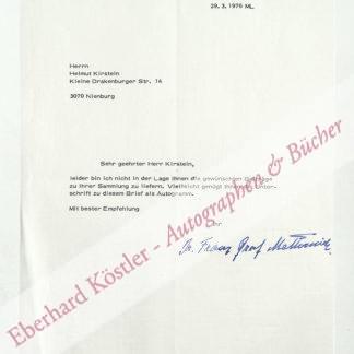 Metternich zur Gracht, Franz Graf Wolff, Kunsthistoriker und Provinzalkonservator (1893-1978).