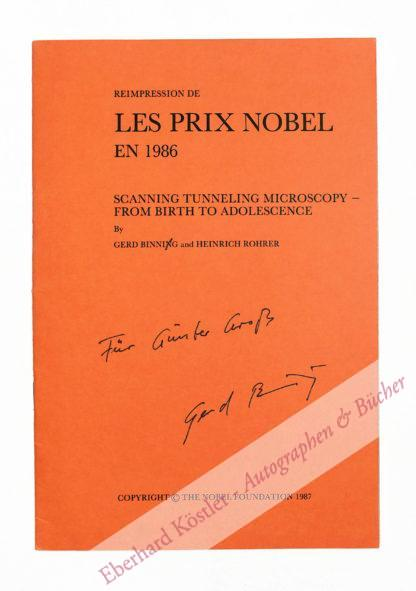 Binnig, Gerd, Nobelpreisträger für Physik von 1986 (geb. 1947).
