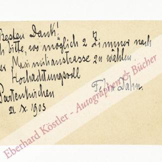 Dahn, Felix, Schriftsteller und Rechtshistoriker (1834-1912).