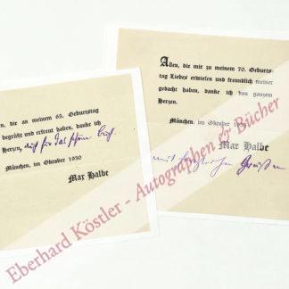Halbe, Max, Schriftsteller (1865-1944).