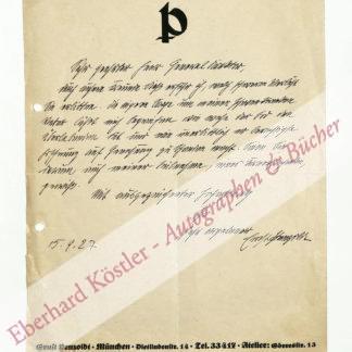 Penzoldt, Ernst, Schriftsteller, Bildhauer, Maler und Zeichner (1892-1955).