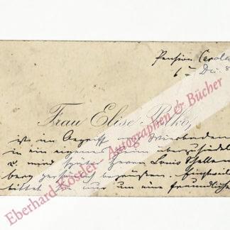 Polko, Elise, Schriftstellerin und Sängerin (1823-1899).