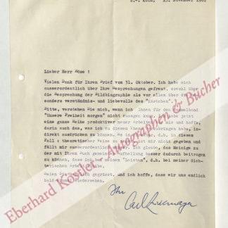 Zuckmayer, Carl, Schriftsteller (1896-1977).