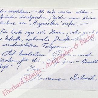 Schech, Marianne, Sopranistin (1914-1999).