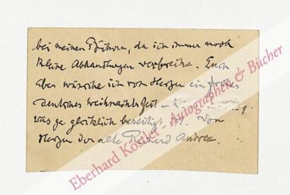 Andree, Richard, Geograph und Ethnograph (1835-1912).
