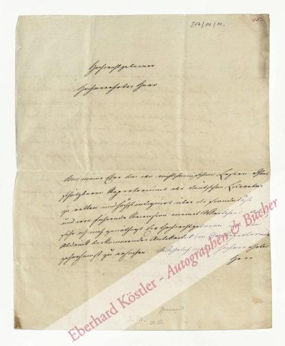 Du Mênil (Mesnil), August Peter Julius, Apotheker und Bergrat (1777-1852).