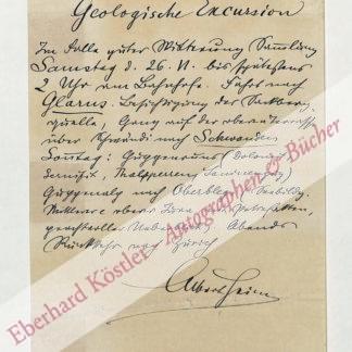 Heim, Albert, Geologe (1849-1937).