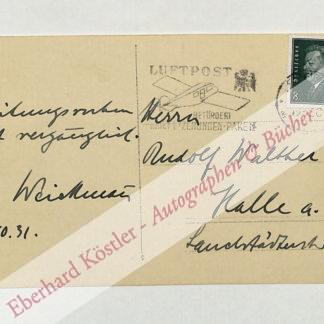 Weickmann, Ludwig, Geophysiker und Meteorologe (1882-1961).