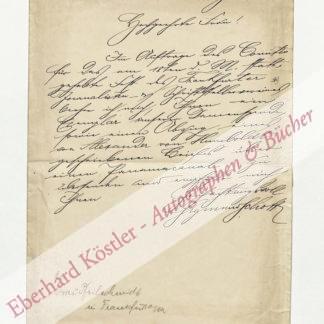Schott, Sigmund, Bankkaufmann, Schriftsteller und Bibliophile (1852-1910).