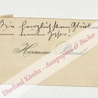 Bland, Hermine (eigentl. Steiner), Schauspielerin (1852-1919).