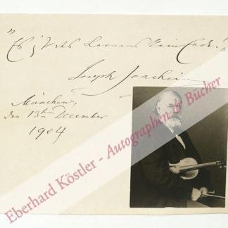 Joachim, Joseph, Violinist (1831-1907).