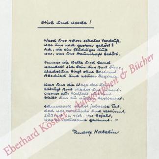 Habetin, Rudolf, Schriftsteller (1902-1986).
