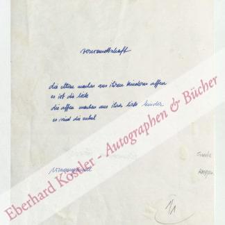 Jandl, Hermann, Schriftsteller (1932-1987).