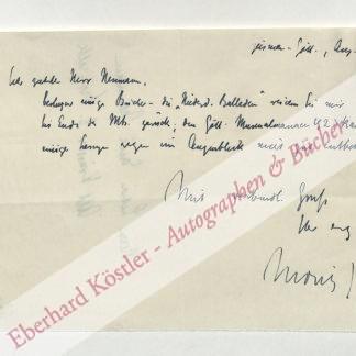 Jahn, Moritz, Schriftsteller (1884-1979).
