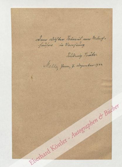 Bäte, Ludwig, Schriftsteller (1892-1977).