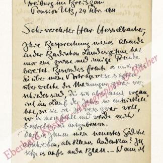 Bodman, Emanuel von, Schriftsteller (1874-1946).