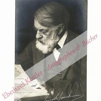 Joachim, Joseph, Komponist und Violinvirtuose (1831-1907).