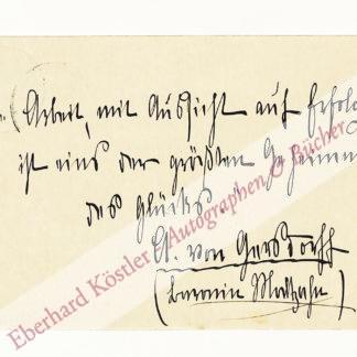 Gersdorff, Ada von, Schriftstellerin (1854-1928).