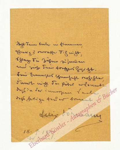 Dörmann, Felix, Schriftsteller (1870-1928).