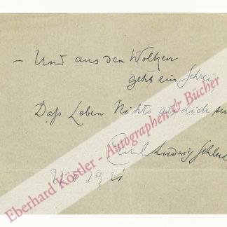 Schleich, Carl Ludwig, Arzt und Schriftsteller (1859-1922).