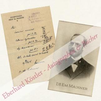 Maixner, Emmerich, Internist (1847-1920).