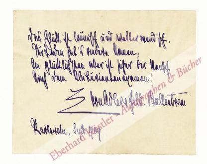 Adlersfeld-Ballestrem, Eufemia von, Schriftstellerin (1854-1941).