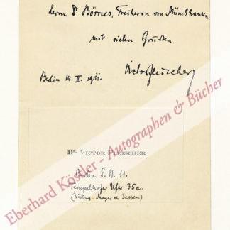 Fleischer, Viktor, Schriftsteller und Verleger (1882-1951).