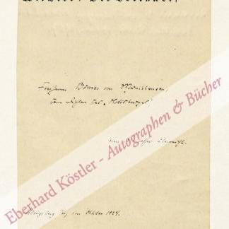 Wiechert, Ernst, Schriftsteller (1887-1950).