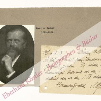 Gruber, Max von, Bakteriologe (1853-1927).