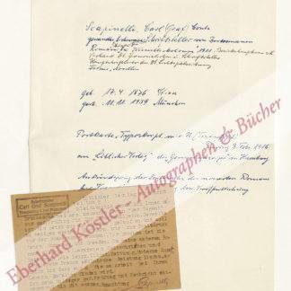 Scapinelli, Carl Graf, Schriftsteller (1876-1959).