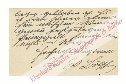 Bölsche, Wilhelm, Schriftsteller (1861-1939).