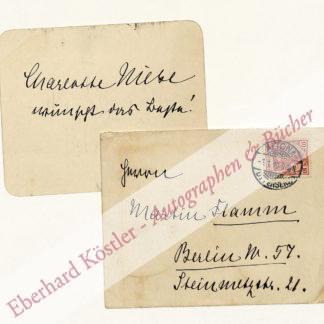 Niese, Charlotte, Schriftstellerin (1854-1935).