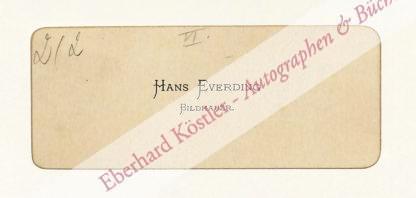 Everding, Hans, Bildhauer (1876-1914).
