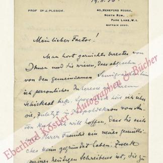 Plesch, János:, Arzt, Freund Albert Einsteins (1878-1957).