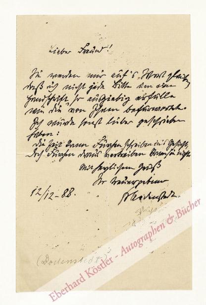 Duncker, Dora, Schriftstellerin (1855-1916).