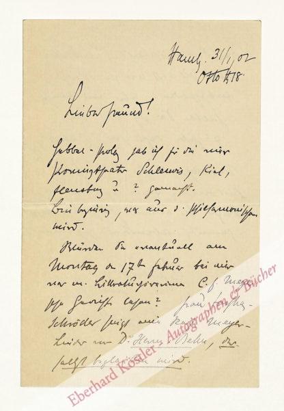 Falke, Gustav, Schriftsteller (1853-1916).