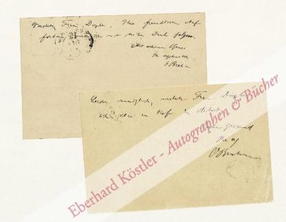Brahm, Otto, Schriftsteller und Theaterleiter (1856-1912).