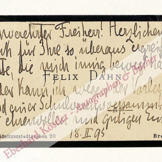 Dahn, Felix, Rechtshistoriker und Schriftsteller (1834-1912).