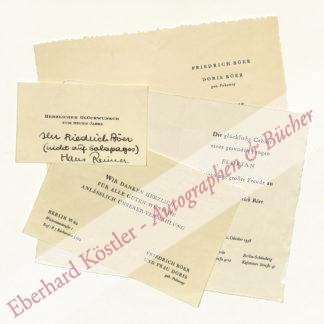 Böer, Friedrich, Schriftsteller (1904-1982).